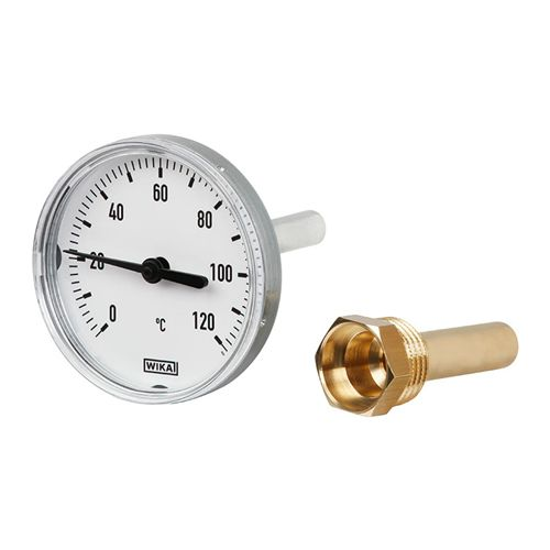 WIKA  Model A43 Bimetal thermometer For heating technology