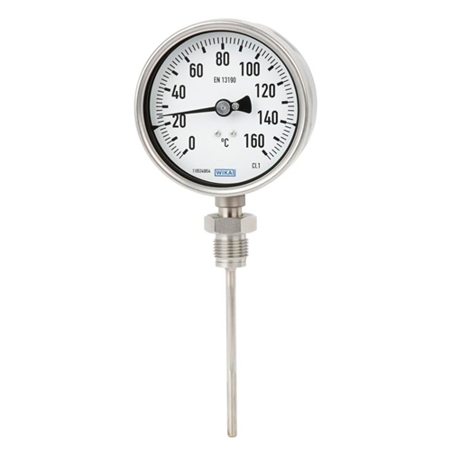 WIKA Model 55 Bimetal thermometer High-quality process version per EN 13190