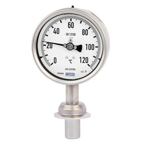 WIKA  Model 74 Gas-actuated thermometer for sanitary applications Stainless steel version