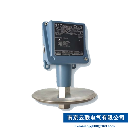 UE 117 series Compact pressure, vacuum, differential pressure and temperature electromechanical switches for Class 2 and Zone 2
