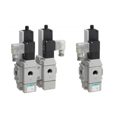 CKD 3-way solenoid valve with spool position detection model SNP
